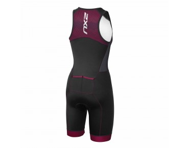 2XU PERFORM PRO Damen Trisuit black/barberry