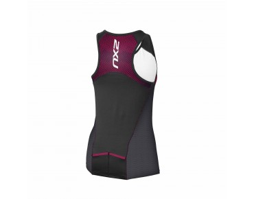 2XU PERFORM PRO women's tri top black/barberry