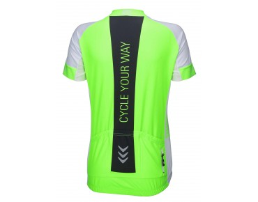 RACE CYW women's jersey fluo green/white/black