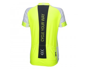 RACE CYW women's jersey fluo yellow/white/black
