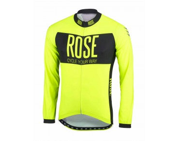 LINE long-sleeved jersey fluo yellow/black