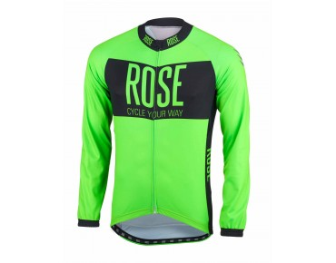 ROSE LINE long-sleeved jersey fluo green/black