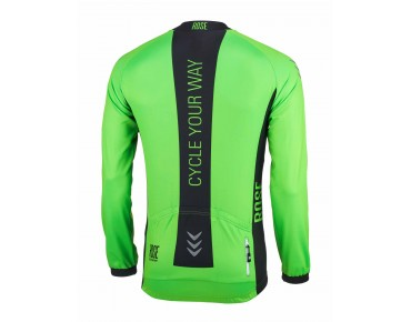 LINE long-sleeved jersey fluo green/black