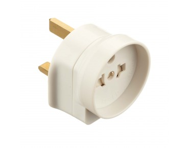 keine Marke Adapter 2 pin Euro into 3 pin plug UK