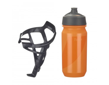 Tacx - set borraccia Shanti Twist 500 ml + portaborraccia Deva Deva schwarz/Shanti orange