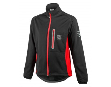 ROSE WINDBREAKER soft shell jacket black/red