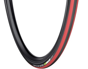 Vredestein Fortezza Senso All Weather road bike tyre black/red
