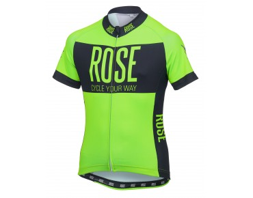 ROSE LINE kids' jersey fluo green/black