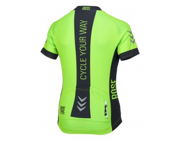 LINE kids' jersey fluo green/black