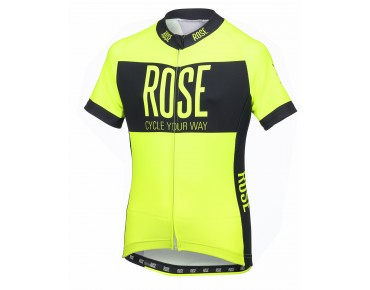ROSE LINE kids' jersey fluo yellow/black