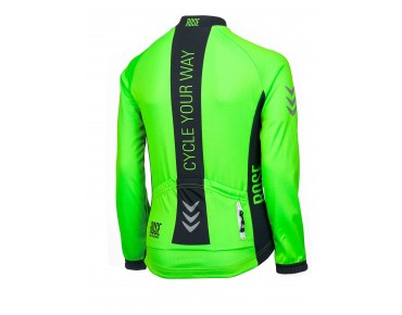 ROSE LINE THERMO thermal long-sleeved jersey for kids fluo green/black