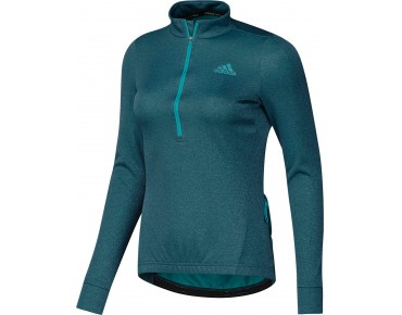 adidas response women's long-sleeved jersey shock green s16