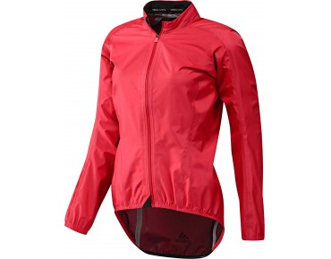 adidas infinity h.too.oh women's waterproof jacket shock red s16