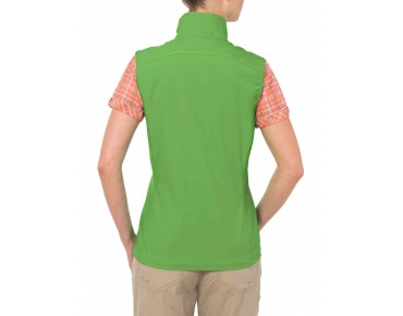 VAUDE HURRICANE II women's soft shell vest apple