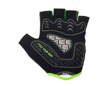 ROSE LINE CYW GEL gloves black/white/lime