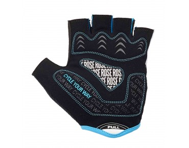 ROSE LINE CYW GEL gloves black/white/sky