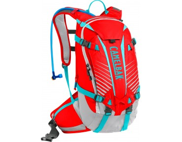 CamelBak K.U.D.U. 12 backpack incl. protector - test winner MountainBIKE 11/2014 - fiery red/silver