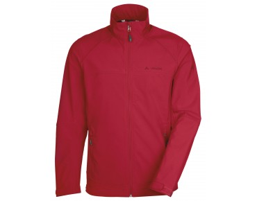 VAUDE HURRICANE III soft shell jacket red