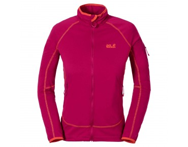 Jack Wolfskin STORMLIGHT FLEECE jacket for women azalea red