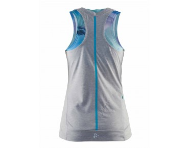 CRAFT ESCAPE Damen Top grey melange/white