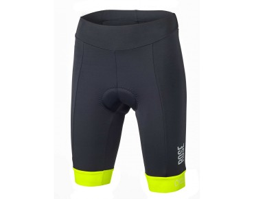 CYW women's cycling shorts black/fluo yellow