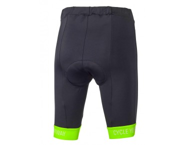CYW women's cycling shorts black/fluo green