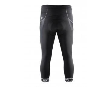 CRAFT VELO ¾ -length tights black/white logo