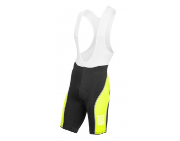 ROSE DESIGN III bib shorts black/fluo yellow