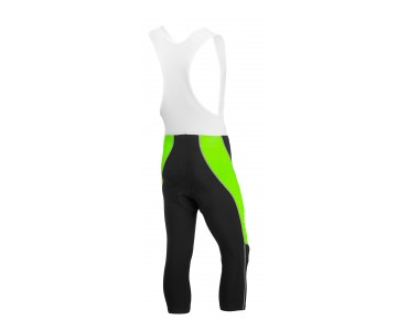 ROSE DESIGN III 3/4-length bib tights black/fluo green