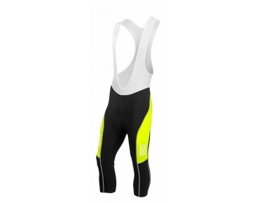 ROSE DESIGN III 3/4-length bib tights black/fluo yellow