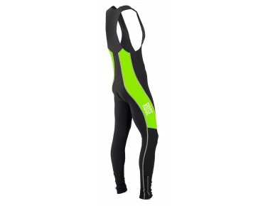 ROSE DESIGN III thermal bib tights black/fluo green