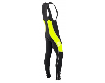 ROSE DESIGN III thermal bib tights black/fluo yellow