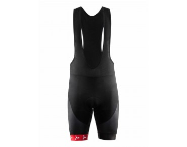 CRAFT BORA ARGON 18 bib shorts black/white/red