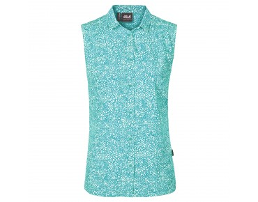Jack Wolfskin WAHIA PRINT Damen Bluse ärmellos pool blue all over