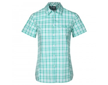 Jack Wolfskin RIVER SHIRT Damen Bluse pool blue checks