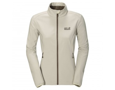 Jack Wolfskin ELEMENT SOFTSHELL women's jacket white sand