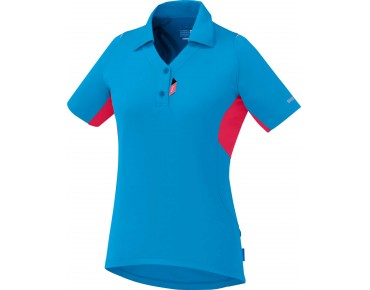 SHIMANO POLO women's jersey lightning blue/jazzberry