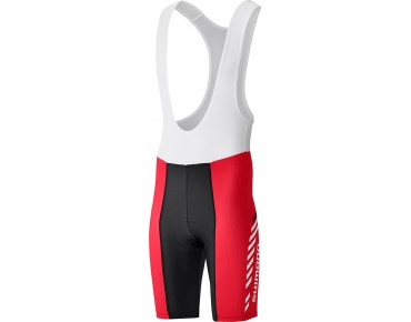 SHIMANO PRINT bib shorts red
