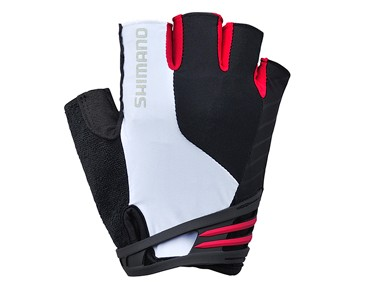 SHIMANO CLASSIC short finger gloves white