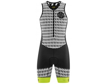 ZOOT LTD FRONT ZIP trisuit white/safty yellow