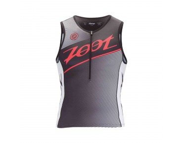ZOOT TEAM tri top black/race day red