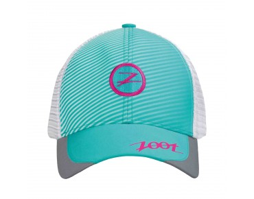 ZOOT TECH TRUCKER cap aquamarine/passion fruit