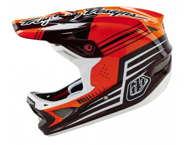 Troy Lee Designs D3 CARBON Vollvisierhelm BEZERK red