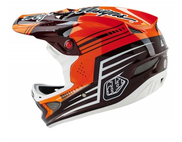 Troy Lee Designs D3 CARBON full visor helmet BEZERK red