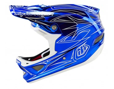 Troy Lee Designs D3 full-face helmet PINSTRIPE2 blue chrome