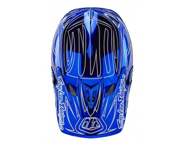 Troy Lee Designs D3 Vollvisierhelm PINSTRIPE2 blue chrome