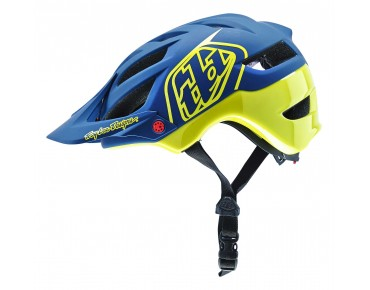 Troy Lee Designs A1 - casco MTB DRONE navy yellow