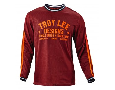 Troy Lee Designs SUPER RETRO Bikeshirt langarm maroon