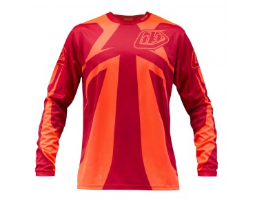 Troy Lee Designs SPRINT long-sleeved bike shirt rocket red