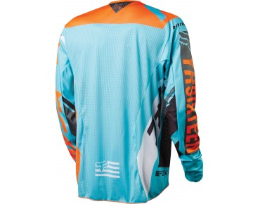 FOX DEMO long-sleeved cycling shirt aqua